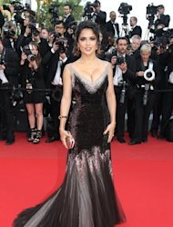 Salma Hayek attends the 'Madagascar 3: Europe's Most Wanted' Premiere during the 65th Annual Cannes Film Festival at Palais des Festivals in Cannes, France, on May 18, 2012 -- Getty Premium