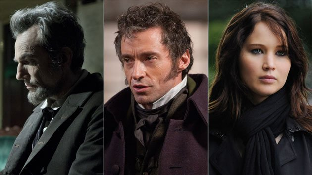 SAG Award nominees 'Lincoln,' 'Les Miserables' &amp;#38; 'Silver Linings Playbook'