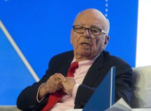 Murdoch, executive chairman of News Corporation, speaks during a panel discussion at the B20 meeting of company CEOs in Sydney