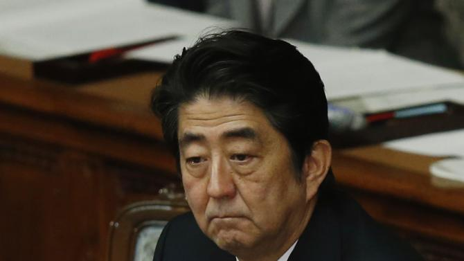 Abe attends an ordinary session of parliament in Tokyo