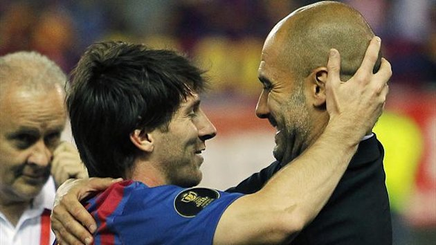 Lionel Messi Pep Guardiola