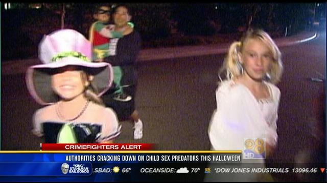 Authorities cracking down on child sex predators this Halloween