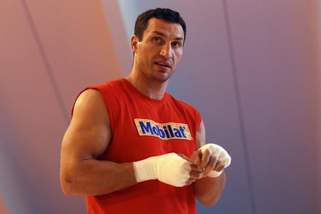 Wladimir Klitschko Of Ukraine Looks Bongarts/Getty Images