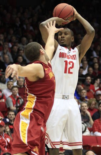 No. 2 Ohio State beats Iowa State 78-75 on late 3