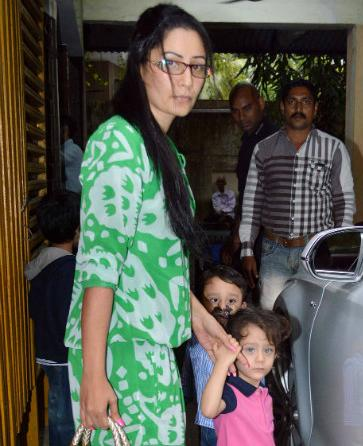 Spotted: Manyata Dutt and her kids