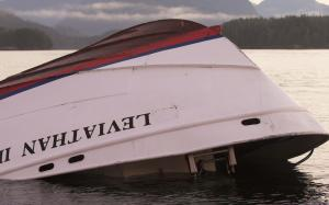 The bow of the Leviathan II, a whale-watching boat…