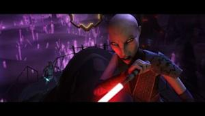 "Assajj Ventress in ""Star Wars: The Clone Wars."" Used with permission of Lucasfilm."