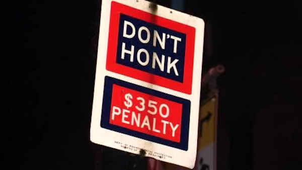 New York City 'Don't Honk' signs coming down