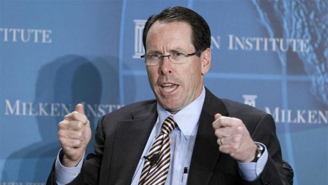 File of Randall Stephenson, chairman and CEO, AT&T Inc. at the Milken Institute Global Conference in Beverly Hills
