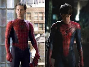 Tobey Maguire and Andrew Garfield as Spider-Man -- Columbia Pictures