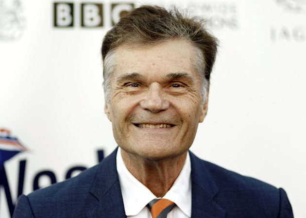 FILE - This April 26, 2011 file photo shows actor Fred Willard arriving at the fifth annual BritWeek in Los Angeles. Willard, who starred in such films as ``Best in Show&#39;&#39; and ``Anchorman: The Legend of Ron Burgundy,&#39;&#39; was arrested in a Hollywood theater July 18, 2012, on suspicion of engaging in a lewd act, police said Wednesday.(AP Photo/Matt Sayles, File)