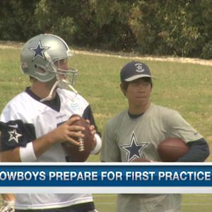 Dallas Cowboys head coach Jason Garrett pleased with Tony Romo's recovery