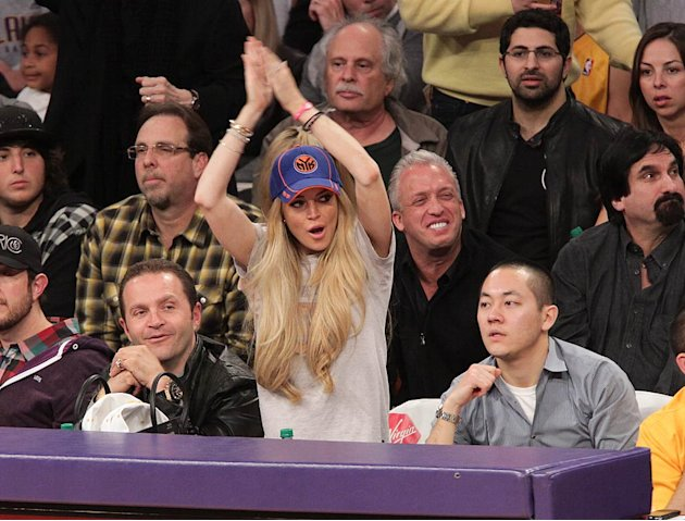Lohan Lindsay Lakers Gm