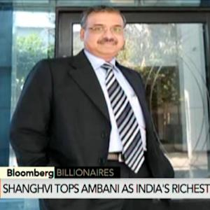 Shanghvi Tops Ambani as India's Richest Person