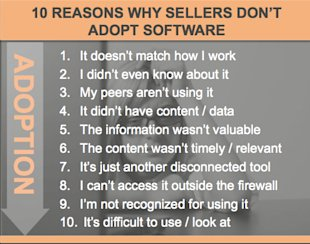 10 Steps to Sales Software Adoption image 10 Reasons Sellers Dont Adopt Software.jpeg