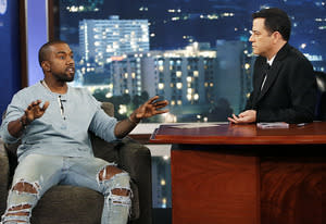 Kanye West and Jimmy Kimmel | Photo Credits: Randy Holmes/ABC
