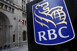 Royal Bank of Canada logo is seen at a branch in Toronto