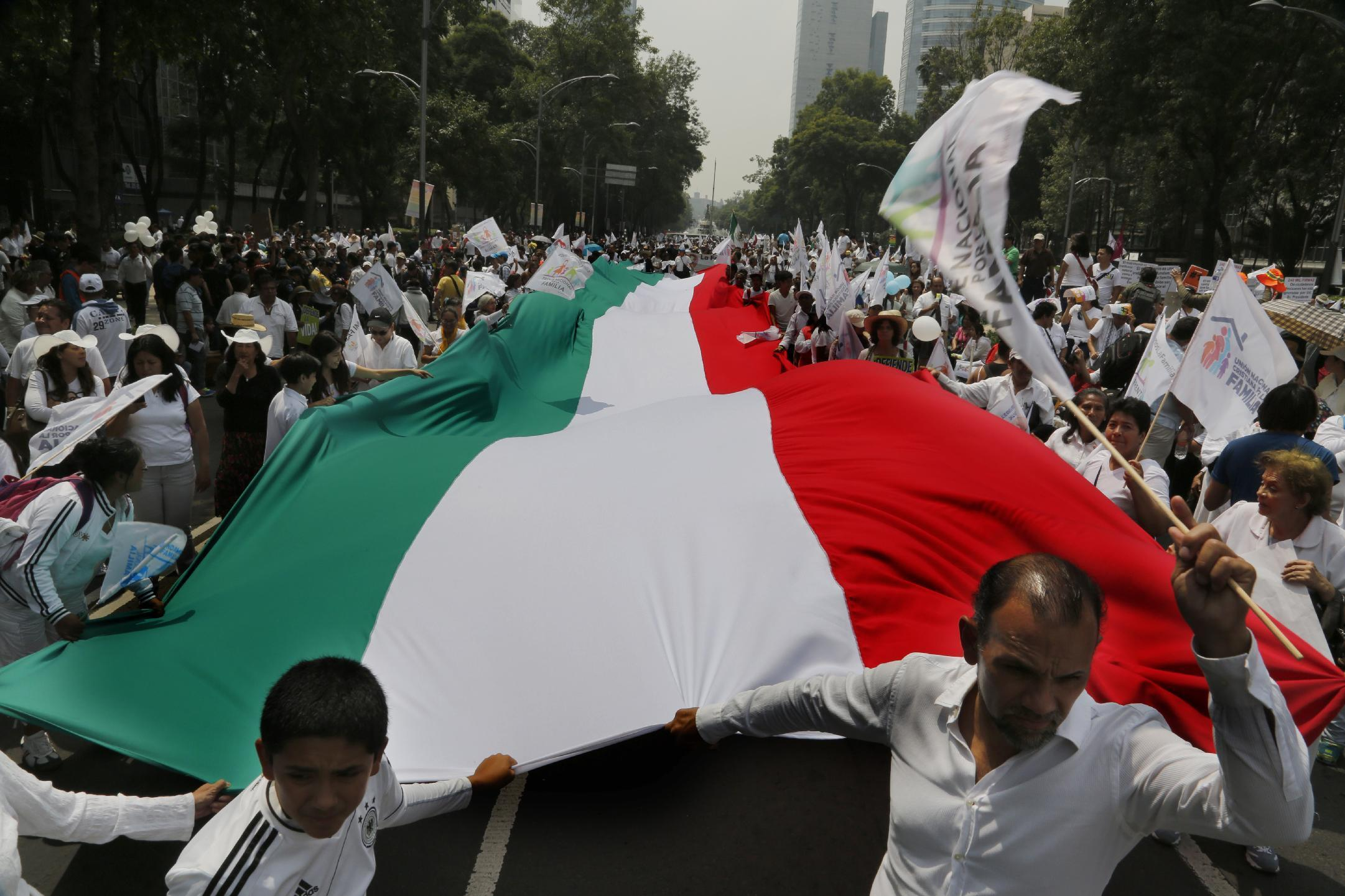 Tens of thousands march against same-sex marriage in Mexico