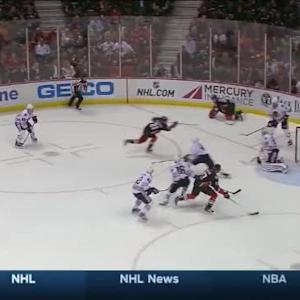 Corey Crawford Save on Kyle Palmieri (15:27/1st)
