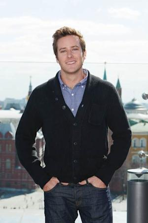 Armie Hammer at a photocall for 'Lone Ranger' at Ritz Carlton Hotel on April, 23, 2013 in Moscow, Russia -- Getty Images