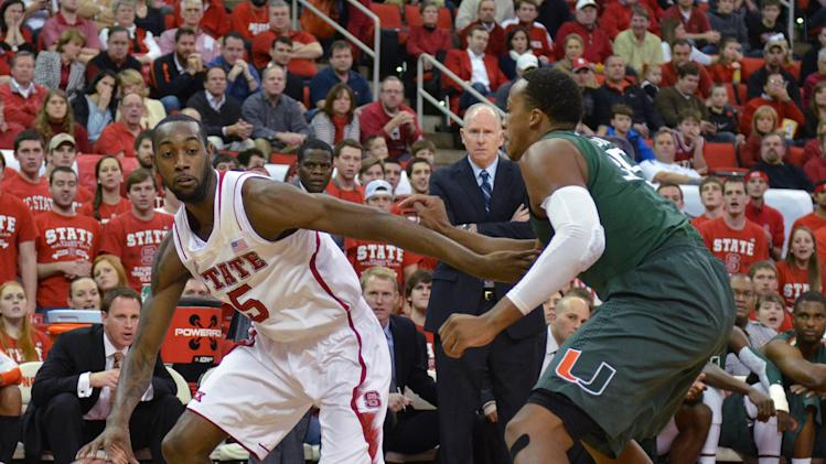 NCAA Basketball: Miami at North Carolina State