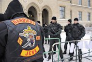 "Members of the motorcycle gang ""Bandidos"" arrive for the trial of of six of its members in the eastern German city of Erfurt on January 11, 2010. A wave of biker gangs from the US, Canada and Australia arriving in Europe has raised fears of deadly turf battle like the Nordic biker wars of the 1990s, European police agency Europol warned on Friday"