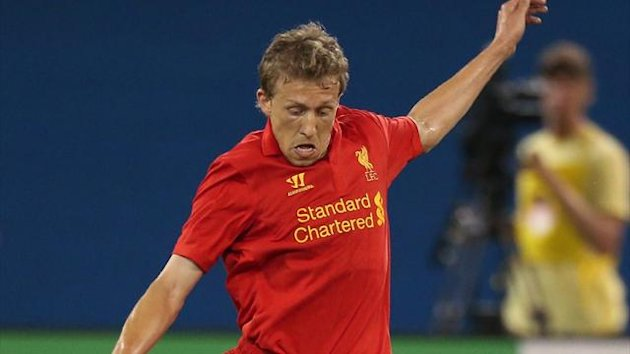 Liverpool's Lucas Leiva in action on the club's pre-season tour of North America (Reuters)