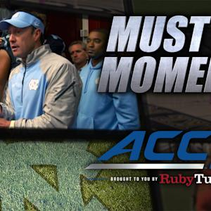 UNC's Larry Fedora Gives Passionate Postgame Speech | ACC Must See Moment
