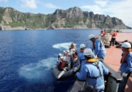Japanese surveyors head to the disputed island chain in the East China Sea on September 2. Japan's government has agreed to buy the group of islands at the centre of a territorial dispute with China, Japanese dailies said Wednesday