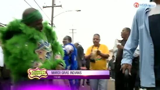 Mardi Gras Indians strut through Treme