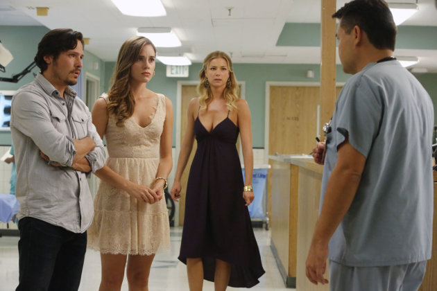 "Nick Wechsler, Christa B. Allen, Emily VanCamp and Peter James Smith in ""Intuition,"" the fourth episode of ""Revenge"" Season 2."