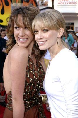 Haylie Duff and Hilary Duff at the Universal City premiere of Universal Pictures' The Perfect Man