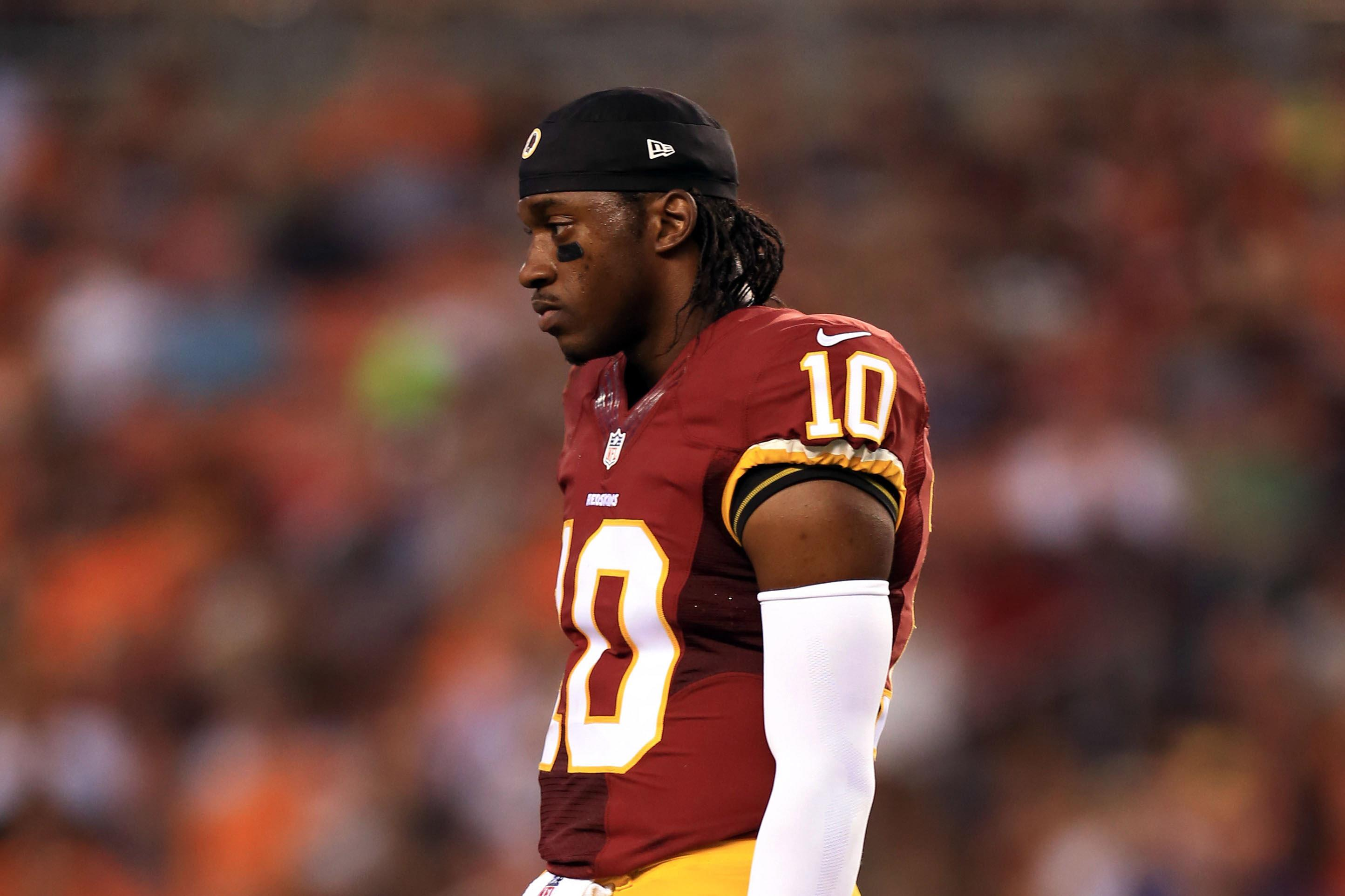 RG3 reacts to not being cleared to play against Ravens