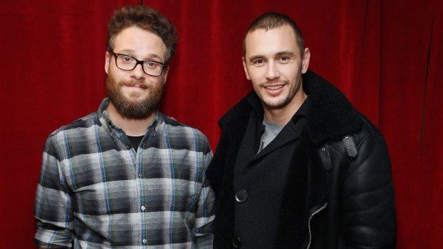 Seth Rogen and James Franco visit the SiriusXM Studios on December 15, 2014 in New York City -- Getty Images