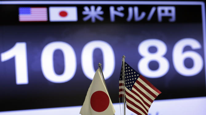 Japan's Nikkei gains as dollar tops 100-yen