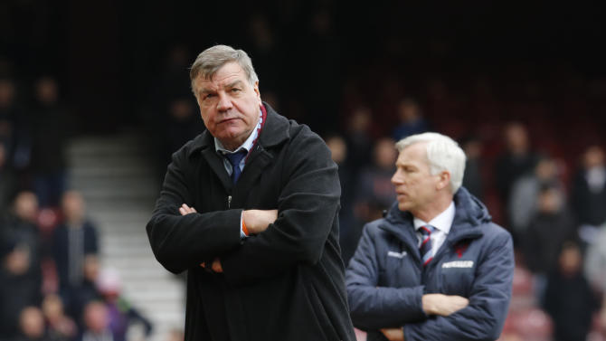 Football: West Ham manager Sam Allardyce looks dejected