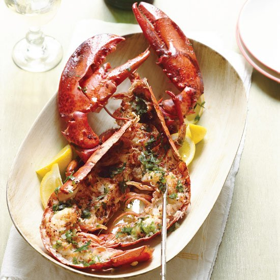 Roasted Lobsters with Verjus and Tarragon
