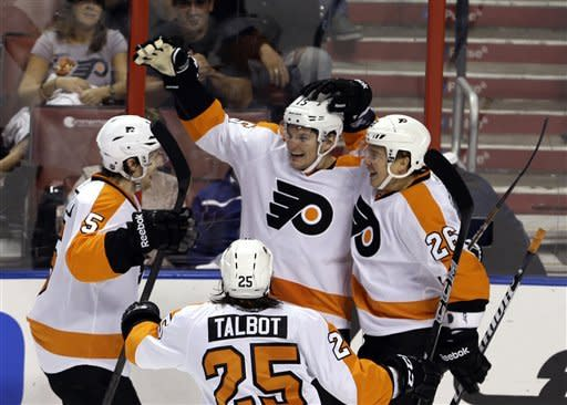 Read's hat trick leads Flyers past Panthers 7-1