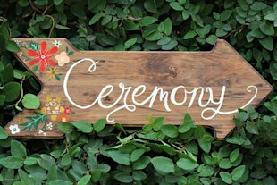Handpainted Arrow Ceremony Sign