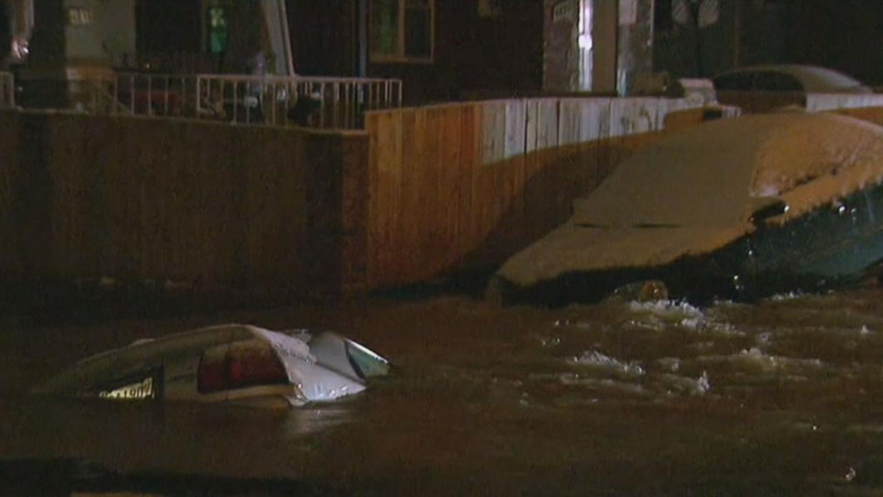 Maryland Sinkhole Nearly Swallows Two Cars