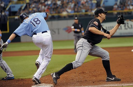 Cobb goes 7 strong innings, Rays beat Marlins