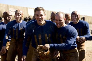 Macolm Goodwin, George Clooney and Nick Paonessa in Universal Pictures' Leatherheads