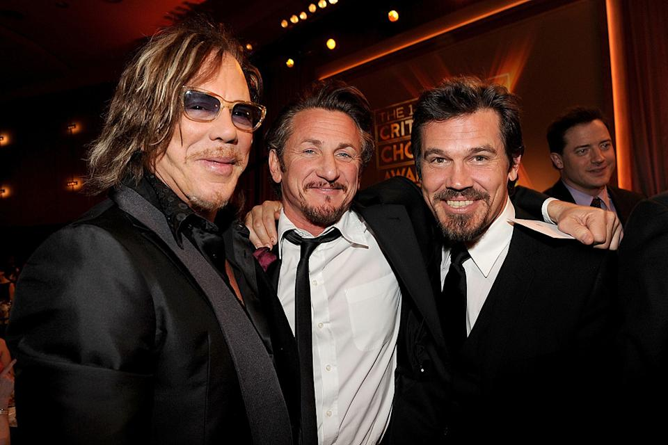 14th Annual Critics' Choice Awards 2009 Mickey Rourke Sean Penn Josh Brolin