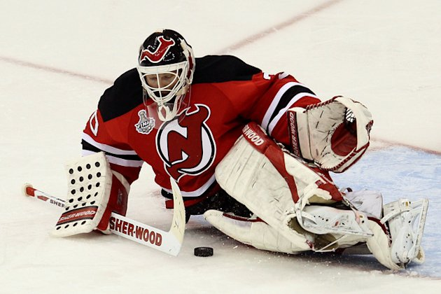 Martin Brodeur #30 Of The New Jersey Devils Makes Getty Images