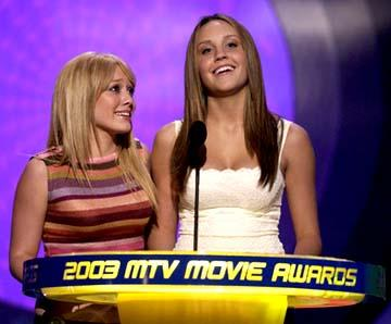 Hilary Duff and Amanda Bynes MTV Movie Awards - 5/31/2003