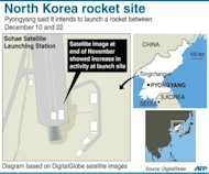 <p>Graphic showing the Sohae satellite launch station in North Korea. Analysts said technical problems or snow, rather than overseas political pressure, could be behind the delay in what the North calls a satellite launch. One said the country's new leader may have been rushing the blast-off set between December 10 and 22 in an attempt to mark a key political anniversary.</p>