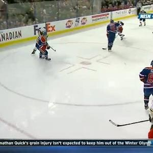 Jarome Iginla rockets slap shot past Dubnyk