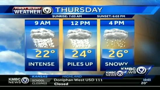 Snow to let up later today