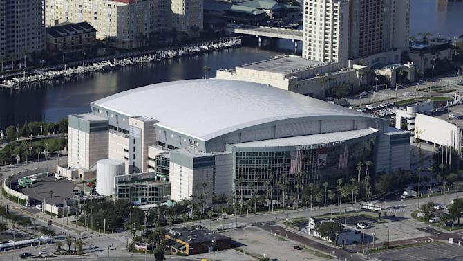 The Tampa Bay Times Forum shown Thursday, Aug. 16, 2012, in Tampa, Fla., is the site of the 2012 Republican National Convention. The 2012 Republican National Convention will be held in Tampa, Florida the week of August 27. (AP Photo/Chris O'Meara)