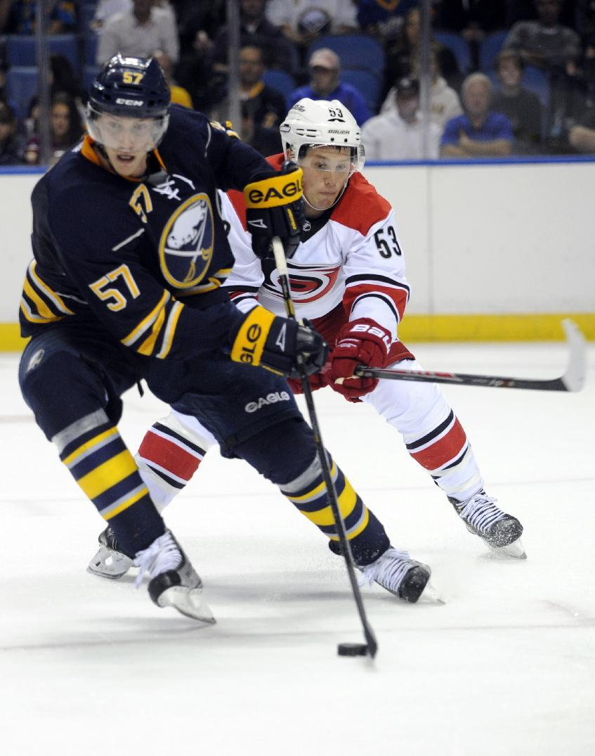 Sabres beat Hurricanes 5-2 in preseason game